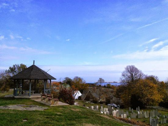 View from the top of the hill, Old Burial Hill Cemetery