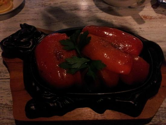 Restaurant Neptuns: масляная рыба и овощи гриль
