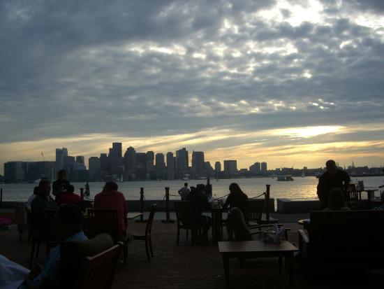 Hyatt Regency Boston Harbor Restaurant View Of Downtown