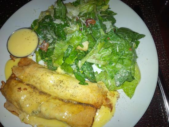 The Pilot House: Crepes with Caesar salad