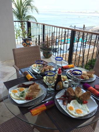 Vallarta Shores: Another amazing meal in Penthouse A prepared by our Private Chef