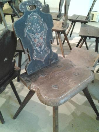Peasant Museum (Muzeul Taranului Roman): wooden chairs