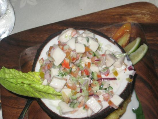 IVI Restaurant at Outrigger on the Lagoon Fiji : The finished product: the Kokoda was delicious
