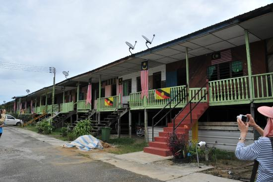 Typical longhouse in Sarawak