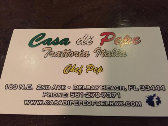 Casa di Pepe: Business card