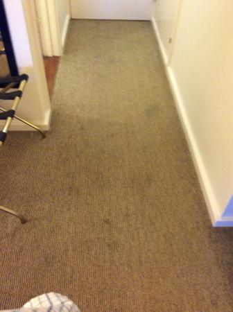 Holiday Inn Maidstone - Sevenoaks: Entrance carpet.  Badly marked.