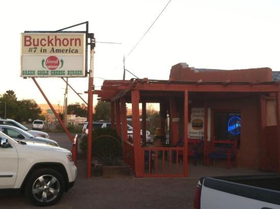 Buckhorn Tavern: The Buckhorn sits right off the main road in San Antonio, NM. Here's a view from the parking lot