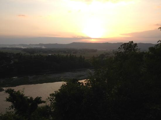 Callao Cave : View at sunset from the stairs leading to the caves