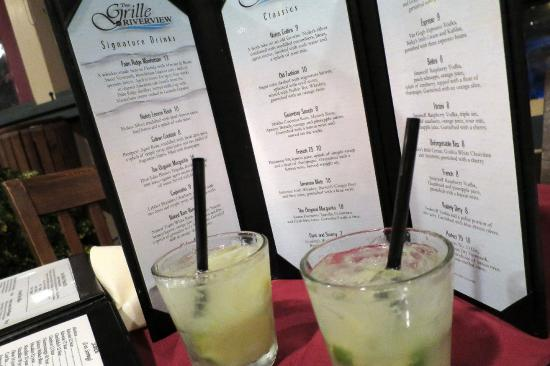 Grille At Riverview: Excellent beverage assortment and wine list. We had Caipirinhas &Dark and Stormy & the wine spec