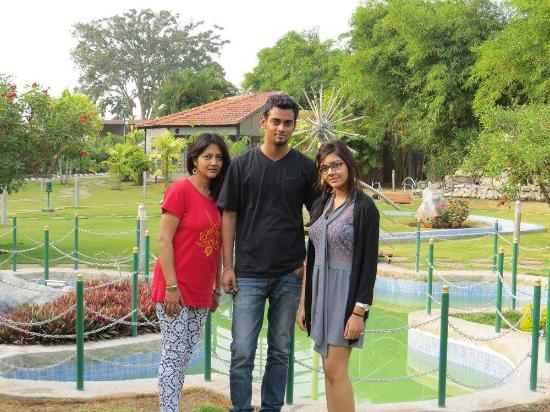 Ruchi the Prince: My family with lawns in backdrop