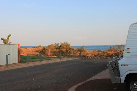 The Cove Holiday Village: View from our site.