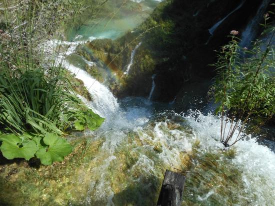 La gola di Sastavci vista dal lago di Novakovića Brod