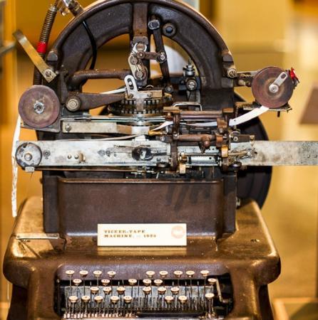 Knight Museum and Sandhills Center: Ticker Tape Machine