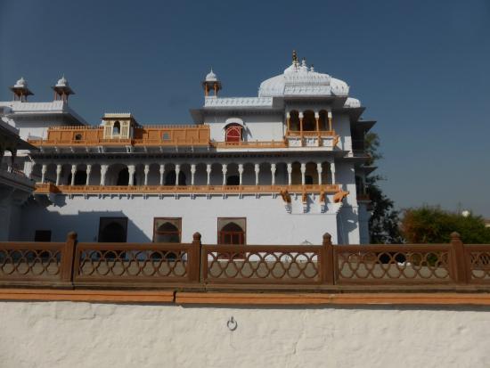 Kotah Garh (City Palace): parte do palácio onde ficava o quarto do Marajá.