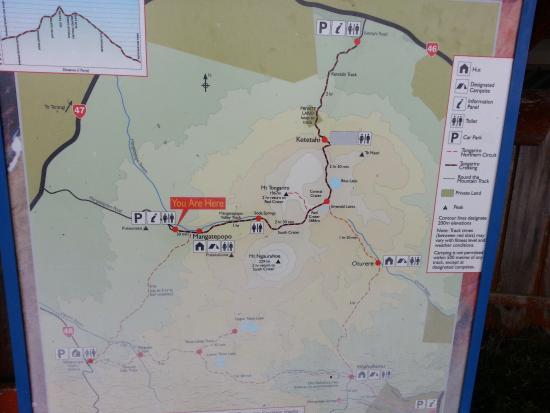 Mount Ngauruhoe: Map to Mt Ngauruhoe