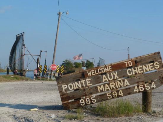 Montegut, LA: PointeAuxChenes Sign