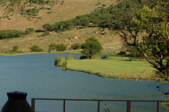 Kloofzicht Lodge & Spa: View of the dam from our rooms