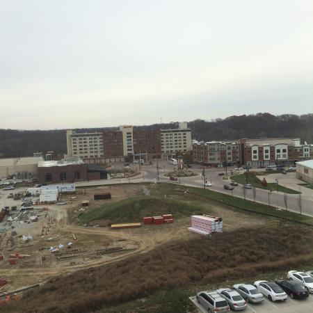 Homewood Suites by Hilton Coralville - Iowa River Landing: View from room 613 - construction in area and Marriott in background