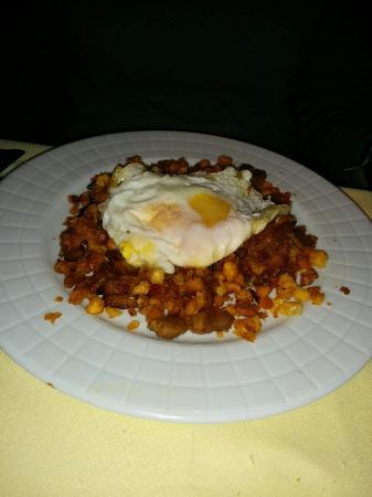 Casa Moraleda: Migas con huevo de corral