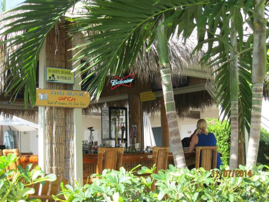 Caribbean Resort by the Ocean: tiki bar