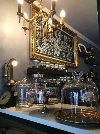 Beautiful menus and decor picture of moore coffee shop for Coffee shop setup and decor