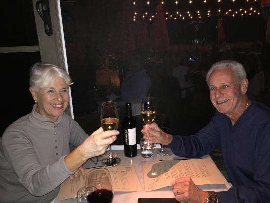 Chalkboard: A toast to a wedding couple back east.