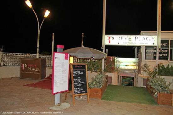 Reve Plage : Rêve-Plage l'entrée du restaurant