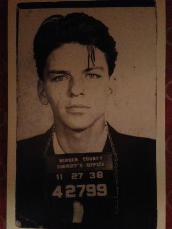 Luigi's: Young mug shot of Frank Sinatra in the Mens' room