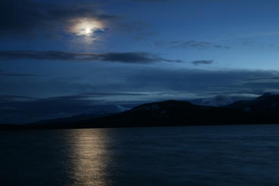 Little Atlin Lodge: Early evening view of Little Atlin lake