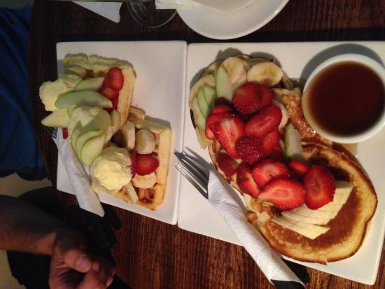 Cafe del Mundo: Pancakes und Waffeln