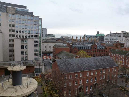 Premier Inn Manchester Central Hotel: View from the fifth floor - lights off