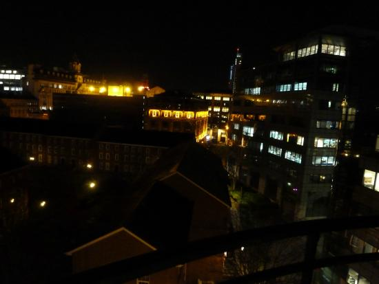 Premier Inn Manchester Central Hotel: View from the fifth floor - lights on