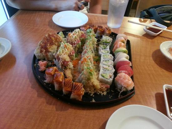 Maru Sushi: From right: Rainbow, Boston and other rolls