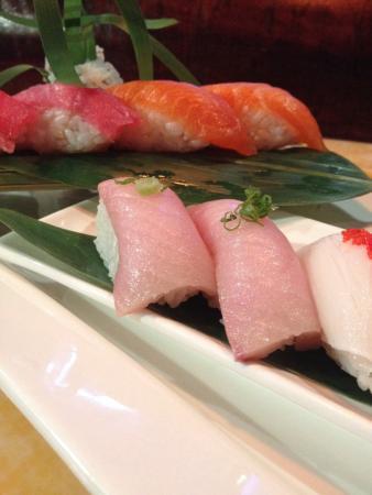 Hana Asian Bistro: Closer shot of sushi dinner platter.