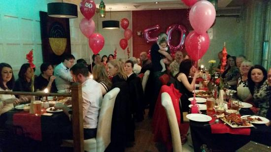 50th birthday party picture of zaraa 39 s indian restaurant for Amin indian cuisine