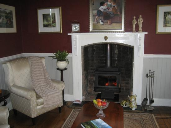Willow Lodge: Lounge and fire off bedroom 2