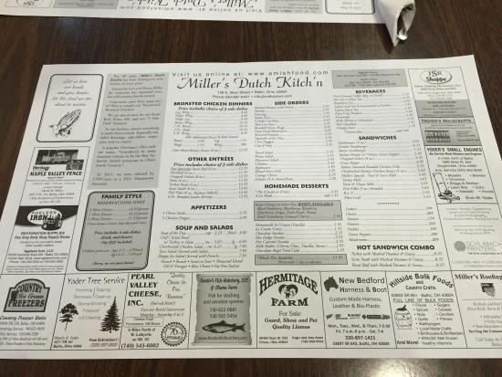 Miller's Dutch Kitch'n menu