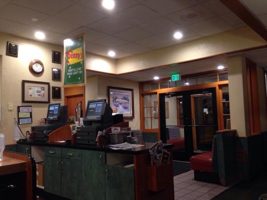 Denny's: Counter area.