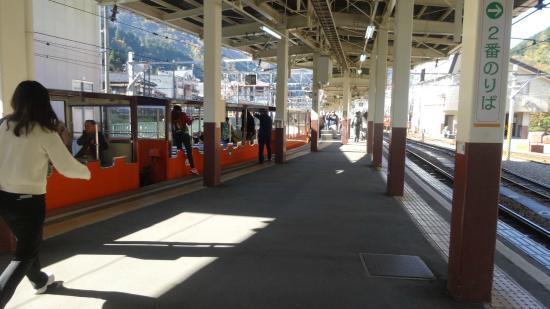 黒部峡谷トロッコ電車, 宇奈月の乗り場