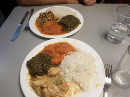 Der Wiener Deewan: vorzügliches, farbenfrohes Essen :-)