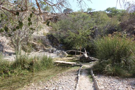 Warmquelle, Namibia: Waterfall area