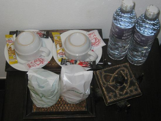 Baan Andaman Hotel Bed & Breakfast: Coffee Sachets and Mineral Water provided daily