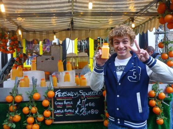 Camden Market: orange juice