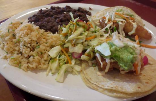 Milagros Mexican Kitchen : Two taco plate
