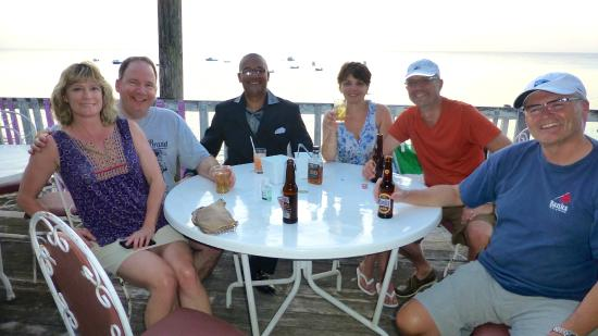 Six Cross Roads, Barbados: Our group at Merton's with Stephen