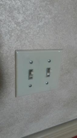 Roberts Riverwalk Hotel Detroit: Light switches need a simple cleaning...the details that matter