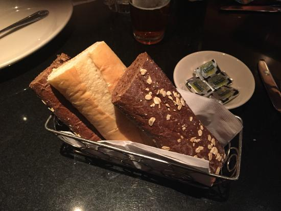 The Cheesecake Factory: Warm Fresh Bread Served at the Table (Sourdough and Whole Wheat)