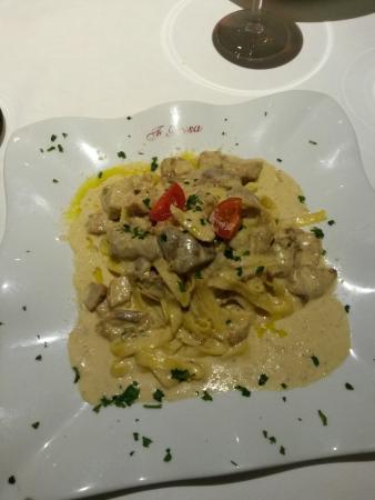 Gold River: Pasta mit Steinpilze