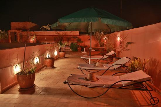 Riad Kalinka Lotus: terrasse