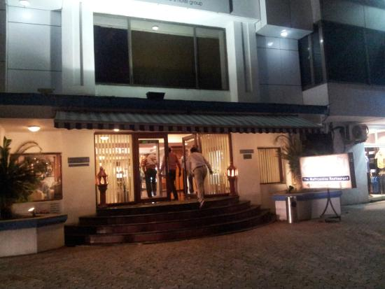 Fortune Park Galaxy,: Hotel entrance at night
